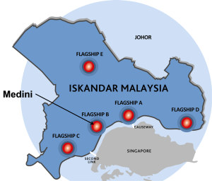 The Iskandar region, image courtesy of Temasek.